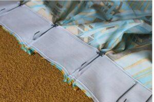 4 pasos rápidos sobre cómo hacer cortinas plisadas con ganchos